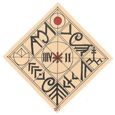 A gödöllői Élő Rovás tanácskozás emblémája