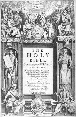 A King James Bible első kiadásának címlapja, 1611