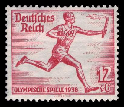"""A """"Német Birodalom"""" gót betűkkel szerepel, az """"Olimpiai Játékok"""" antikvával"""