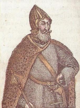 Árpád vezér Bedeö Pél képes történelemkönyvében (1843.)