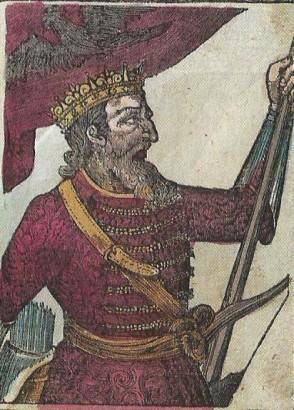 Attila, hun fejedelem Bedeö Pál képes történelemkönyvében (1843.)