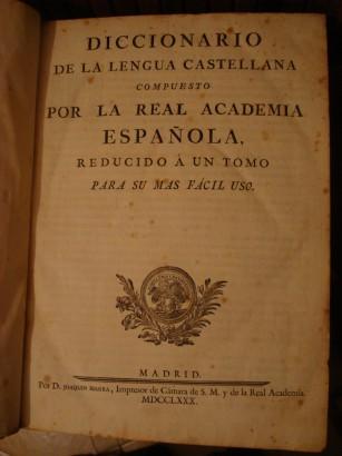 Az első DRAE – 1780-ból
