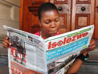 A zulu nyelvű Isolezwe máris a harmadik legnépszerűbb napilap.