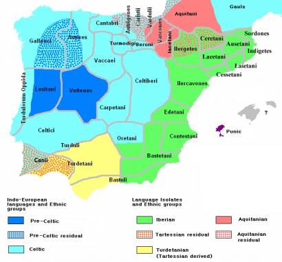 Ibéria népei i. e. 200 körül