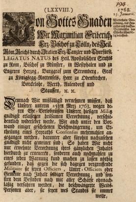 Német nyomtatvány 1768-ból. Jól megfigyelhető a kettősség