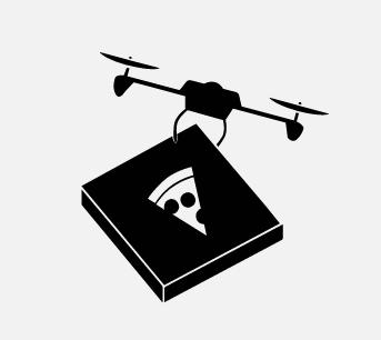 Pizzát házhoz szállító drón