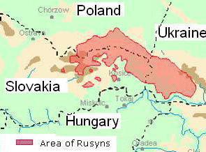 Ruszin területek.