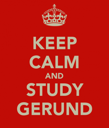 Studying gerunds